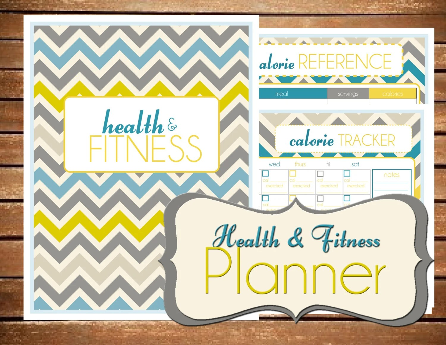 Health And Fitness Planner Printable Editable Size Large