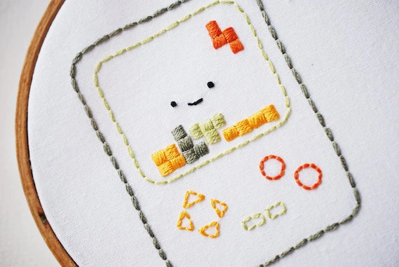 Old School - '80s Music and Technology Embroidery Pattern PDF