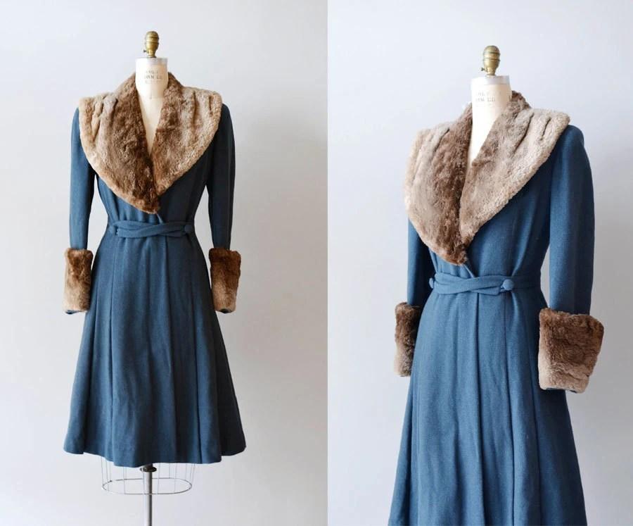 Vintage 1930s Coat / Princess Coat / Fur / Winfield House Coat