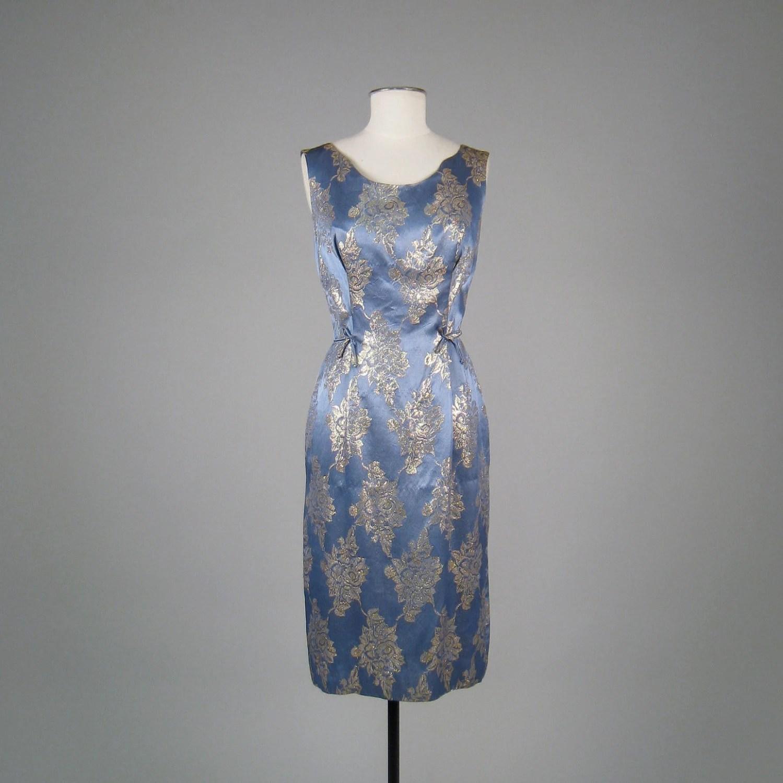 Vintage 1950s Brocade Bombshell Evening Dress
