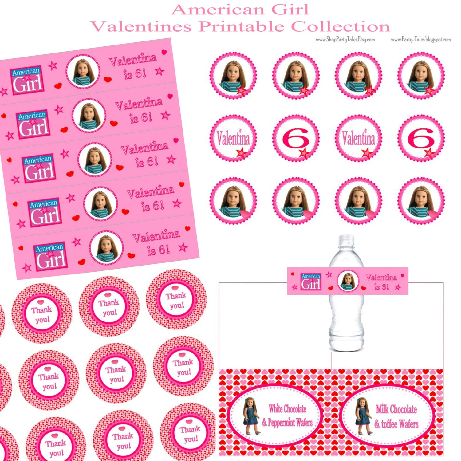 American Girl Doll Printable Valentines Birthday By Icandyevents