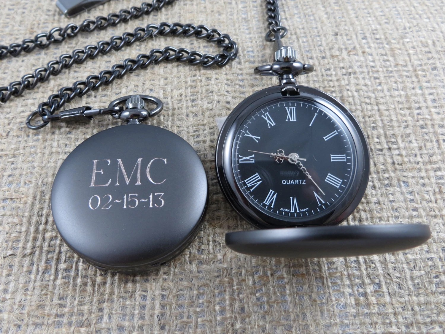 Personalized Pocket Watch - Monogrammed - Gifts for Men - Groomsmen Gifts - Best man (775) - tiposcreations