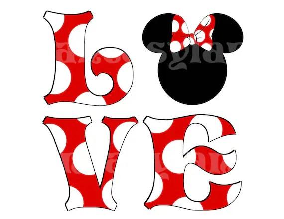 Minnie Love Valentine For DIY Printable By