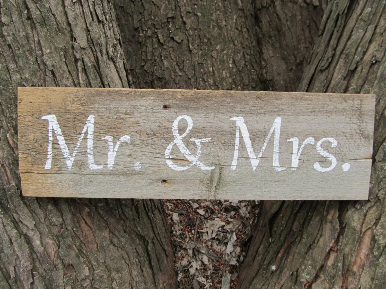 Items Similar To Mr. & Mrs. Rustic Wedding Sign Made From