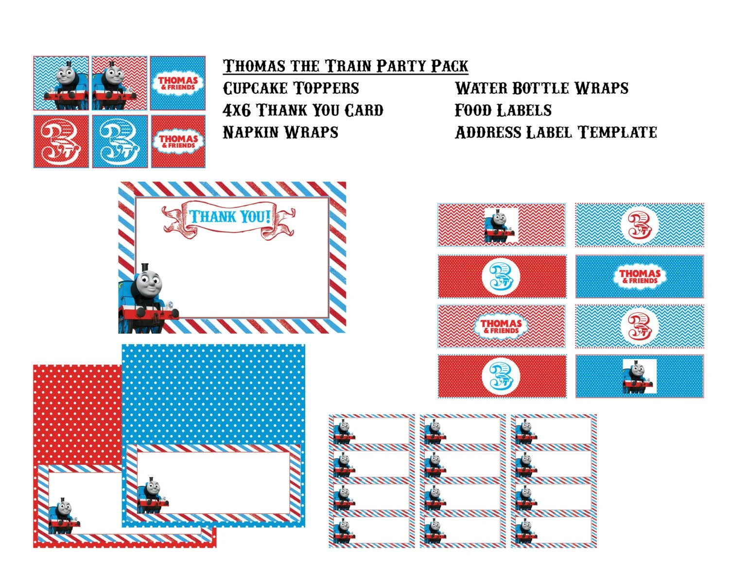Thomas The Train Party Pack Of Printables By Rawkonversations