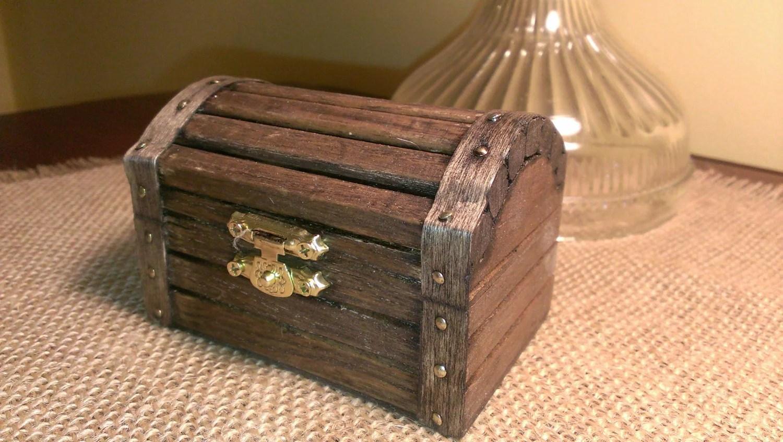 Beach Wedding Ring Box Nautical Wedding Wooden Ring Box