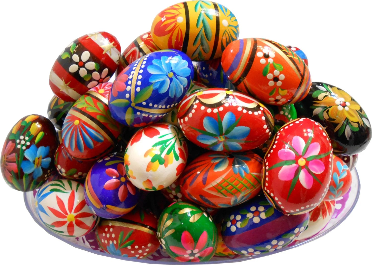 Set Of 3 Polish Easter Painted Wooden Eggs By Tasteofpoland
