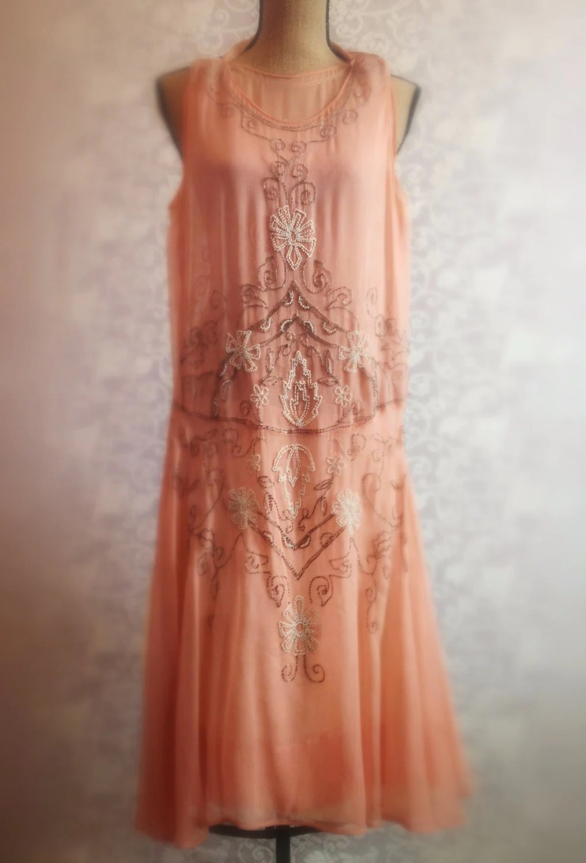 1920s Downton Abbey Period Beaded Dress