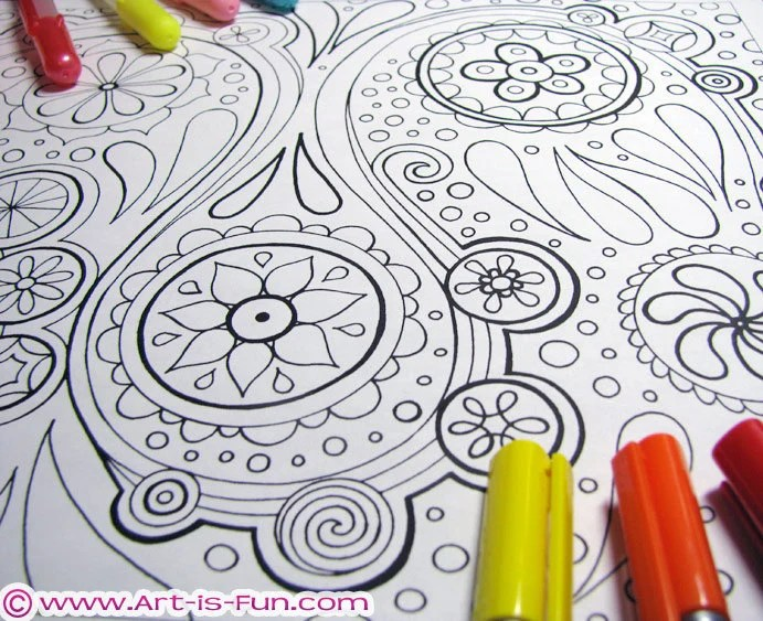 abstract patterns coloring pages pdf 20 detailed by thaneeya