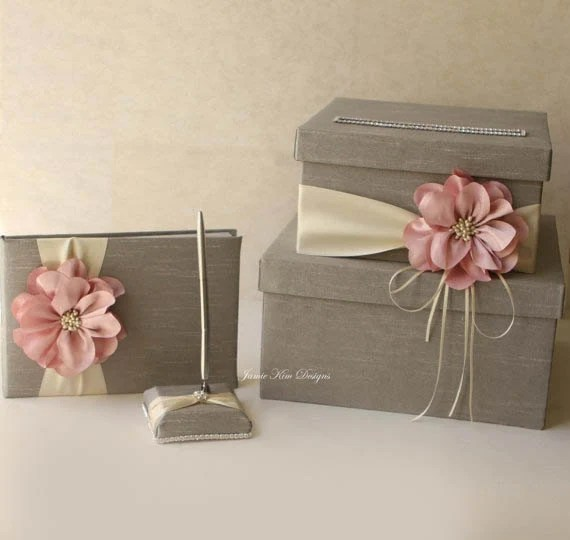 Wedding Card Box Guest Book And Pen Set Custom Made To