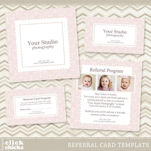 Photography Referral Card Template 5x5 Card Rep Card