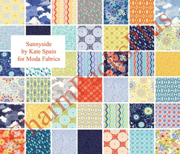 SUNNYSIDE Moda Fabric Charm Pack Five Inch Quilt Squares