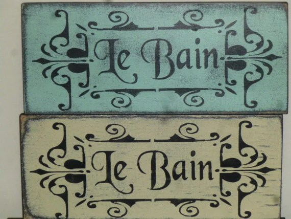 SHABBY LE BAIN sign / French Bath sign