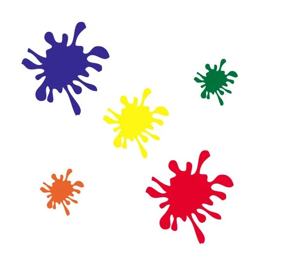 paint splotches colouring pages