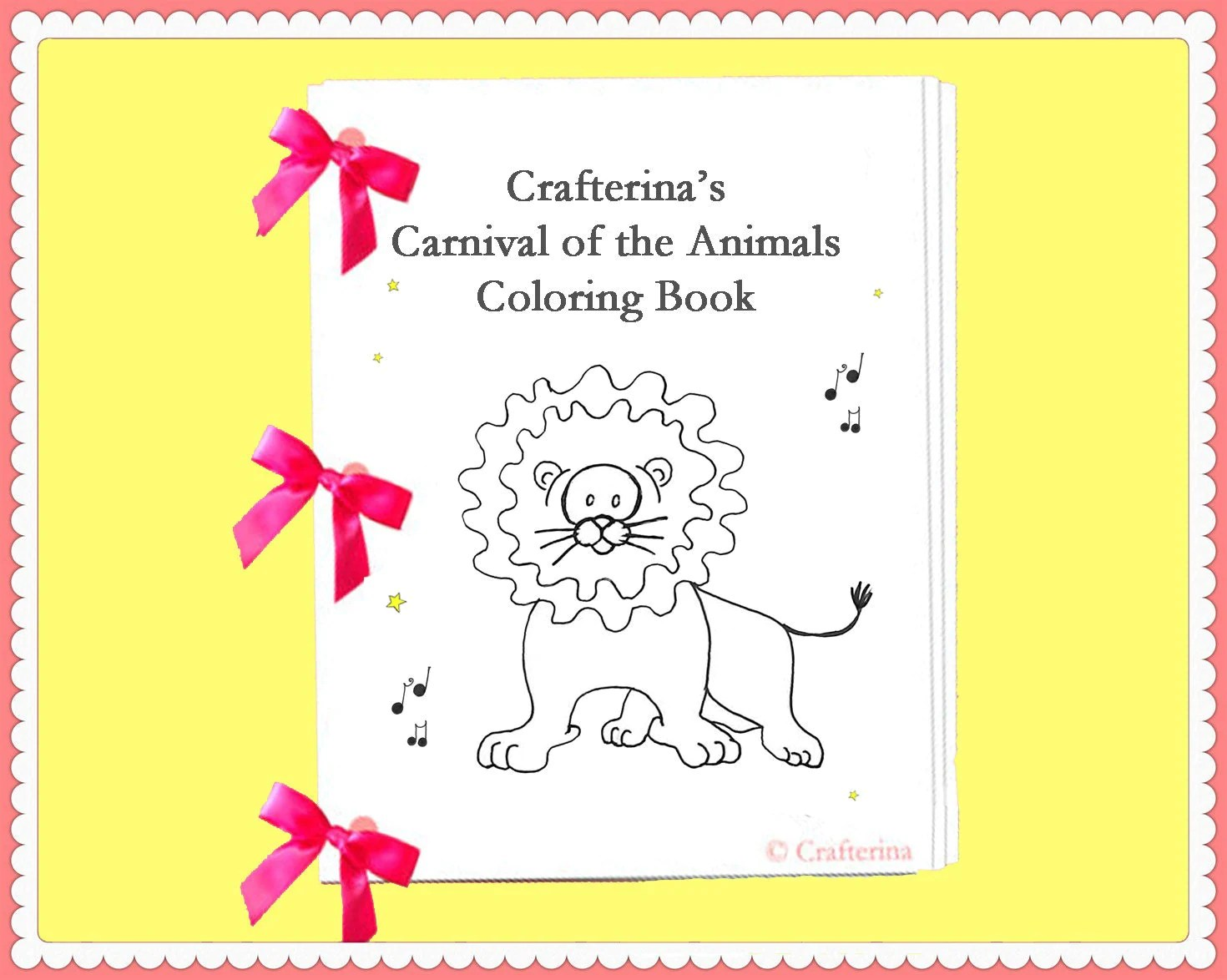 Carnival Of The Animals Printable Coloring Ribbon Book