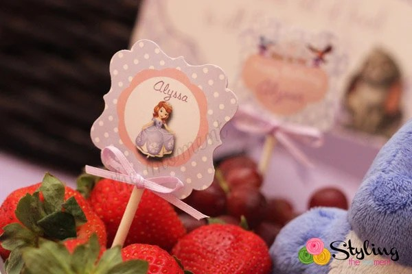 Sofia The First Cupcake Toppers And Wrappers