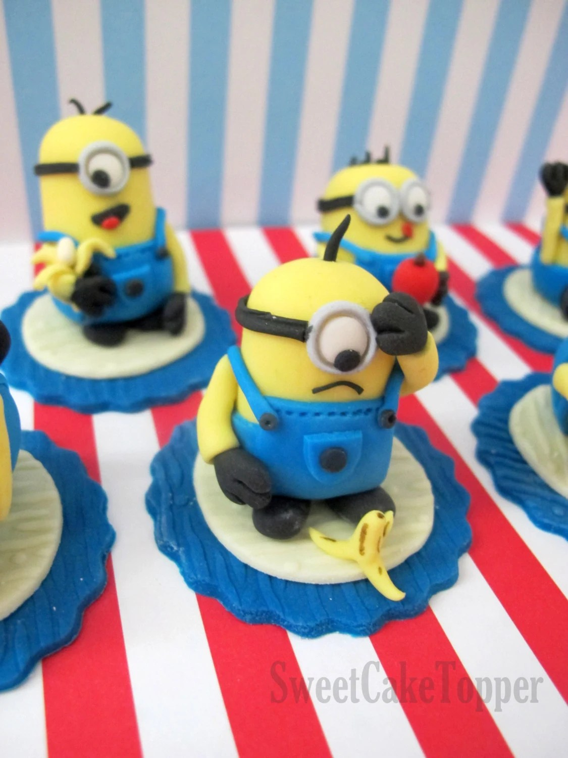Minion Inspired Cupcake Toppers Despicable Me Fondant Cake
