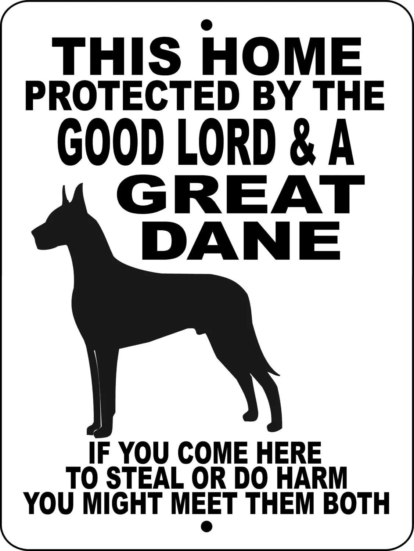 Great Dane Dog Sign 9x12 Aluminum