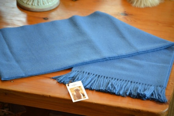 Cornflower Blue Baby Alpaca Throw decorative light blue throw
