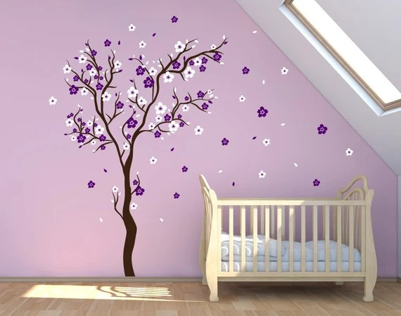 Cherry Blossom Wall Decal Tree by DecaIisland