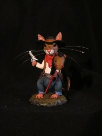 Cowboy Mouse by June Gallagher | September Artist of the Month on Kater's Acres Polymer Clay Blog