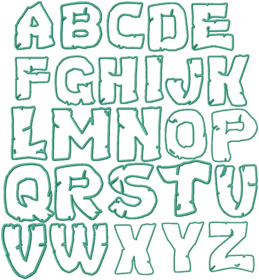 Items Similar To 4 3 Inch Teen Mutant Ninja Turtles Embroidery Font Applique Font Super Hero