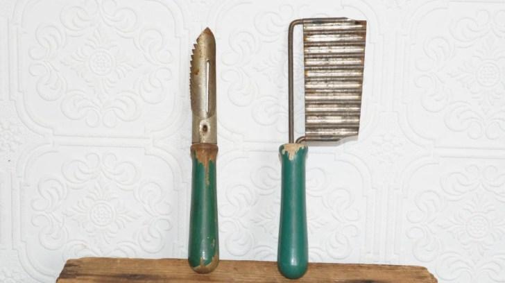Vintage Antique Kitchen Utensils Green Littlekingvintage
