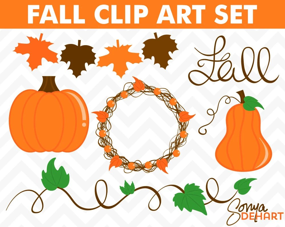 80% OFF SALE Pumpkin Clipart Pumpkin Clip Art Pumpkin