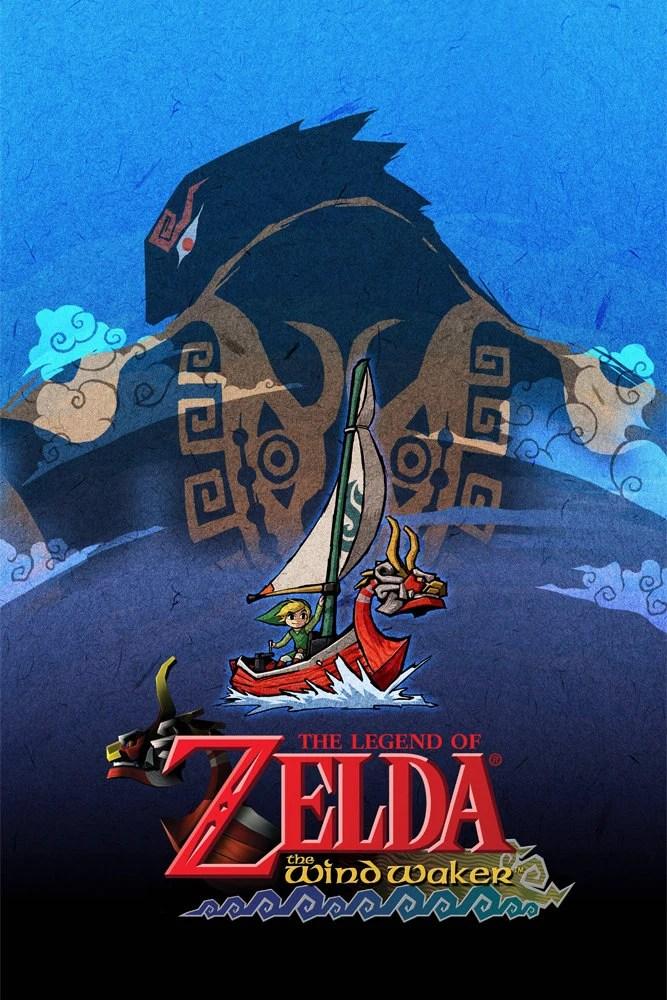 Legend Of Zelda The Wind Waker 24 X 36 Video Game Poster