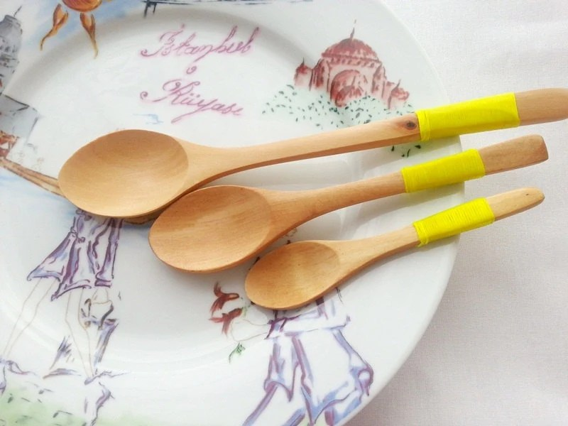 Wooden Spoons Set of 3 : yellow - WoodenCan