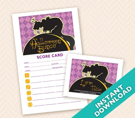 Printable Halloween Bunco...