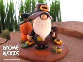 OOAK Pilgrim Gnome Sculpture by Jennifer Jeffs of Gnome Woods
