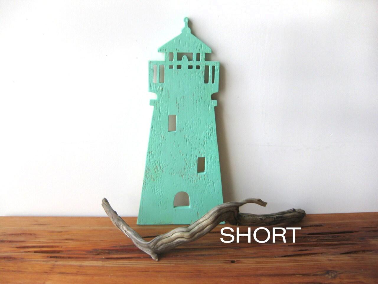 ONE Lighthouse Wood Wall Art Beach Decor Nautical Cottage