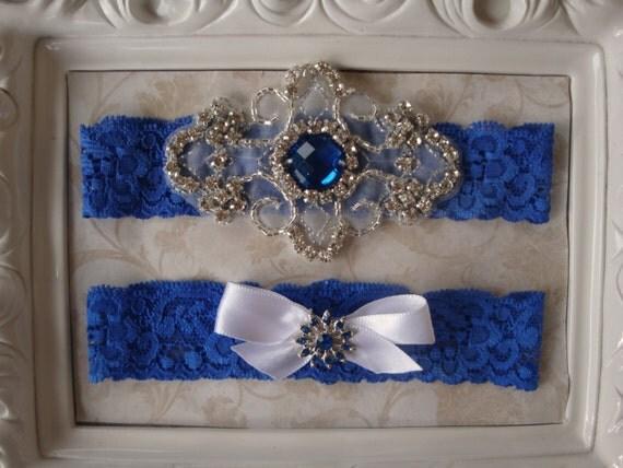 Items Similar To Royal Blue Wedding Garter