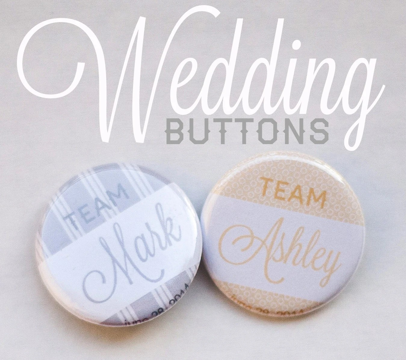 50 custom wedding buttons team bride team groom - exit343design