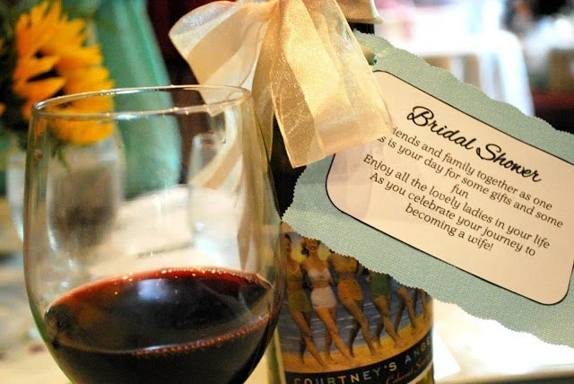 PERSONALIZED Bridal Shower Wine Poems
