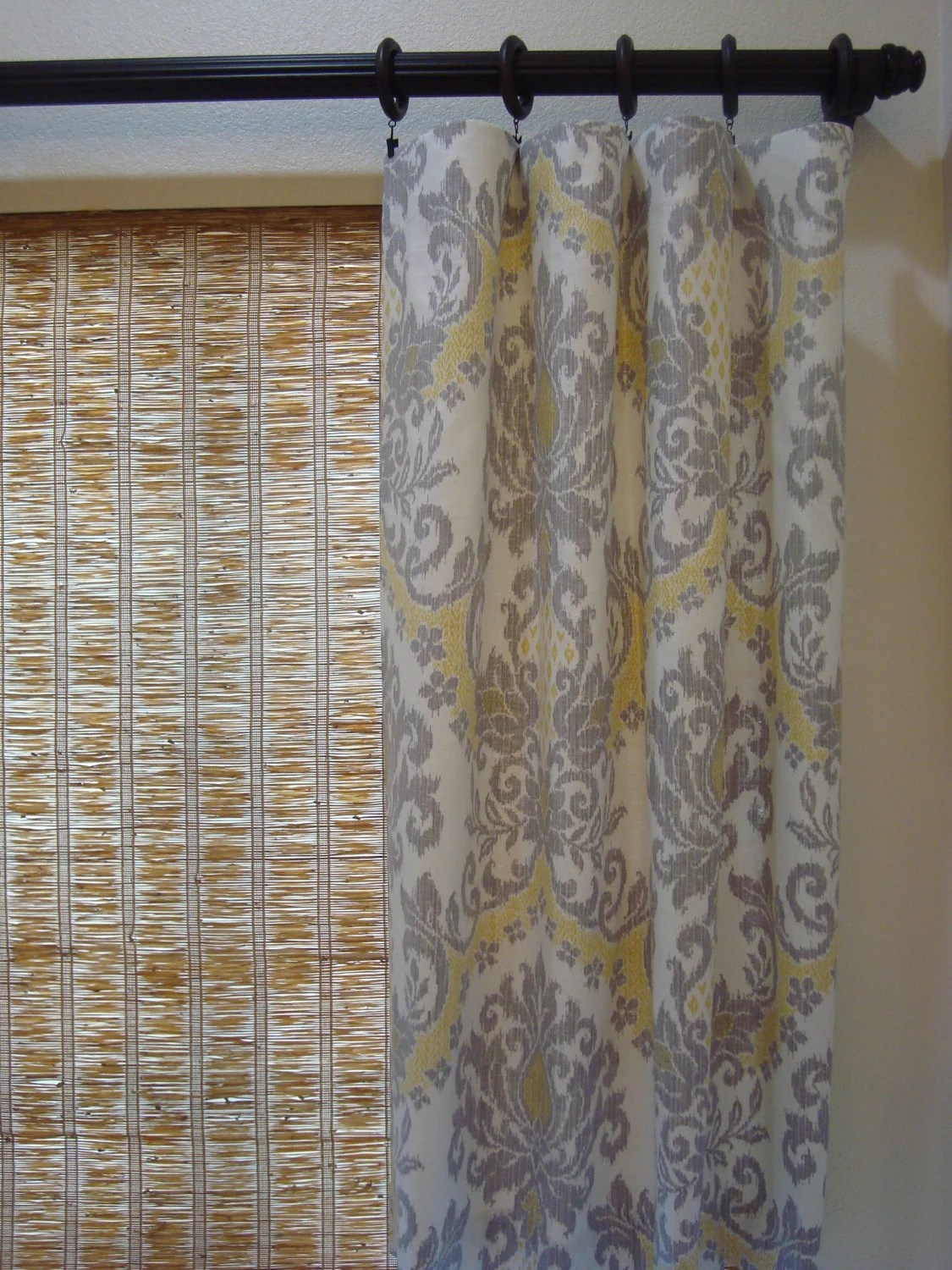 Items Similar To Waverly Curtains Damask Curtain Panels Waverly Bedazzle Silver Lining Rod