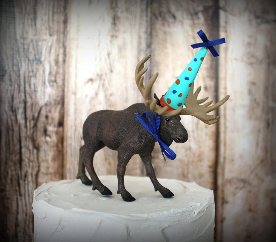 Items Similar To Happy Birthday Moose Cake Topper Moose