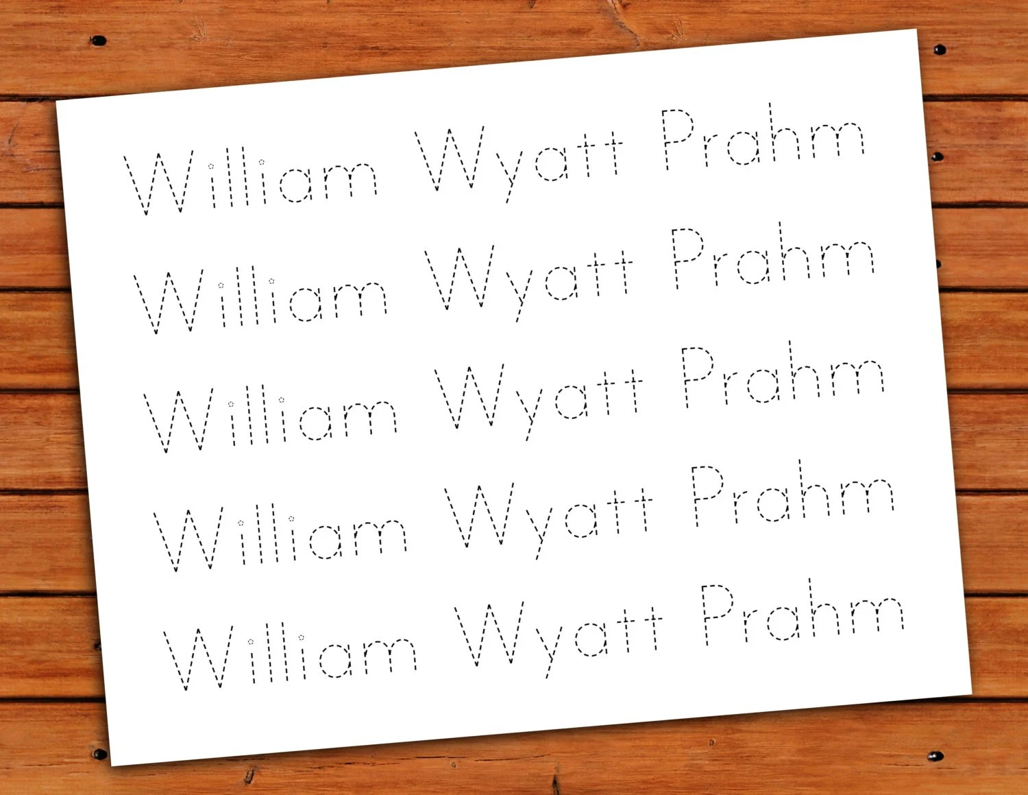 Personalized Print Name Trace Worksheet Printable