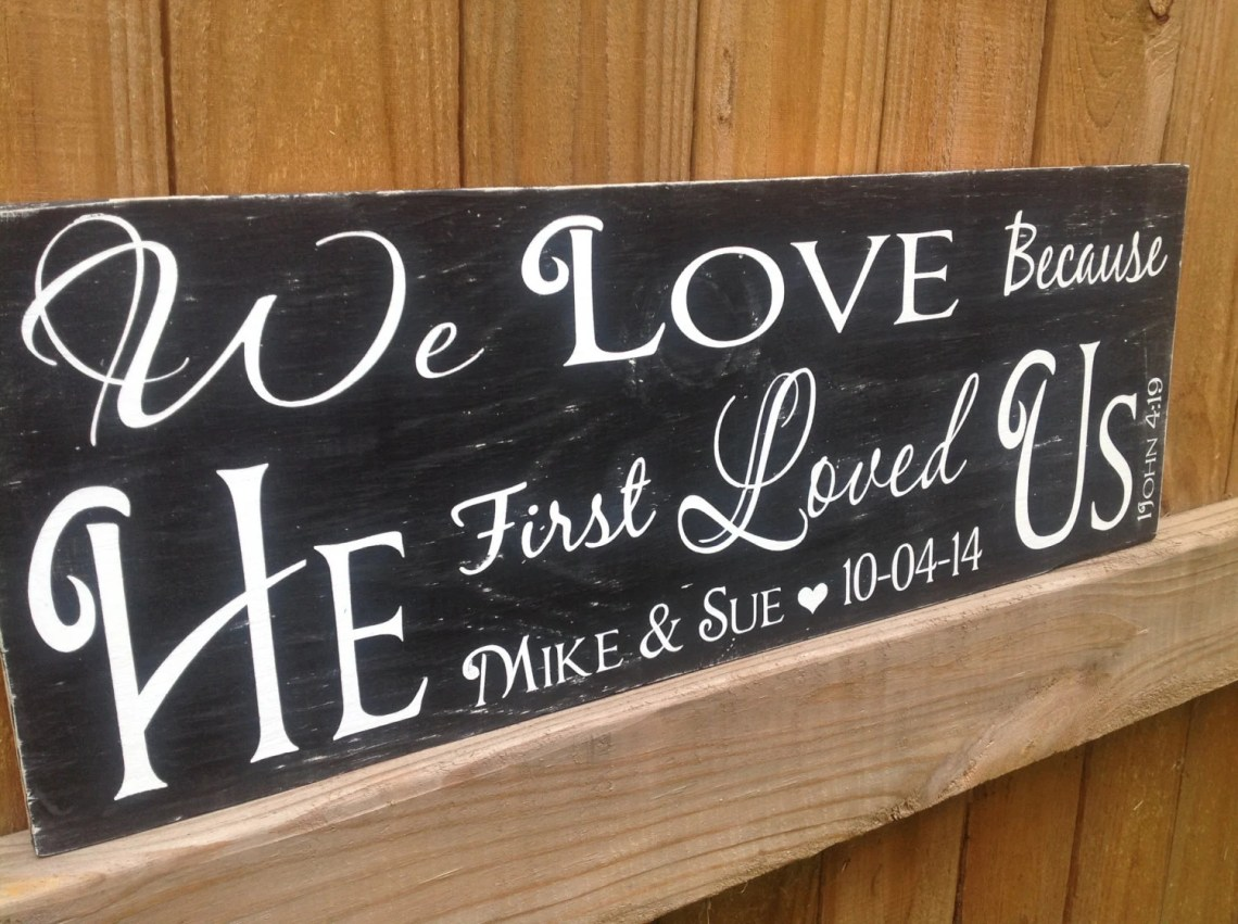 Download We Love because HE first loved us 1 John 4:19 Scripture