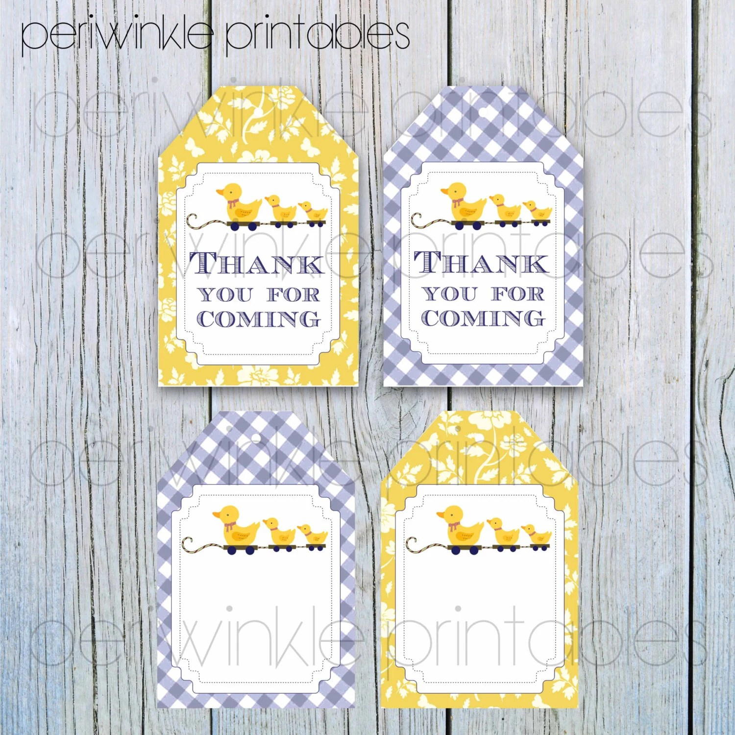 Instant Download Printable T Tags Yellow Duck T Tags Personalized Favor Tags Custom T