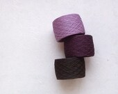 LINEN YARN -laceweight linen yarn in lavender, plum and dark brown - YarnStories