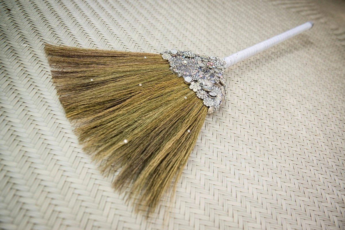 Wedding Broom Brooch Bling 'The Sarah O' Bling