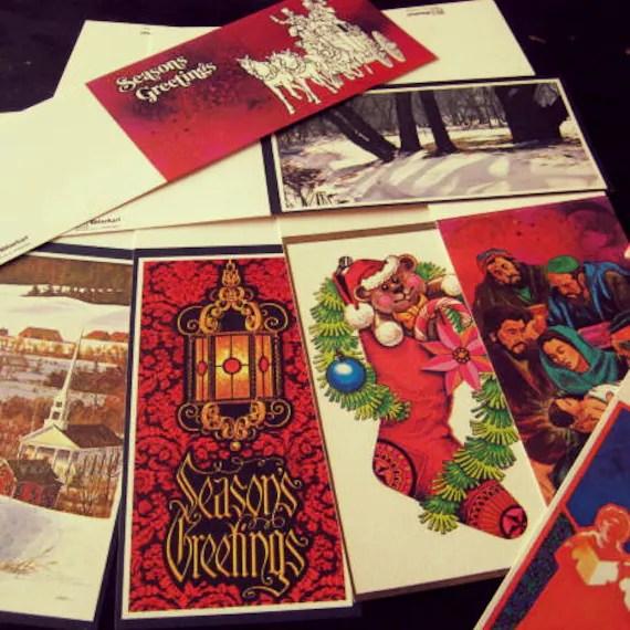 SALE Vintage 1960s Rhinehart Holiday Cards Boxed Set