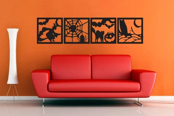 Halloween Square Set - Wall Decal - Extra Extra Large