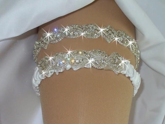 Wedding Garter Set Bridal Lingerie Rhinestone Garter With