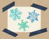 Snowflakes // stamp-set each 2 x 2 cm - littlebigtreehouse