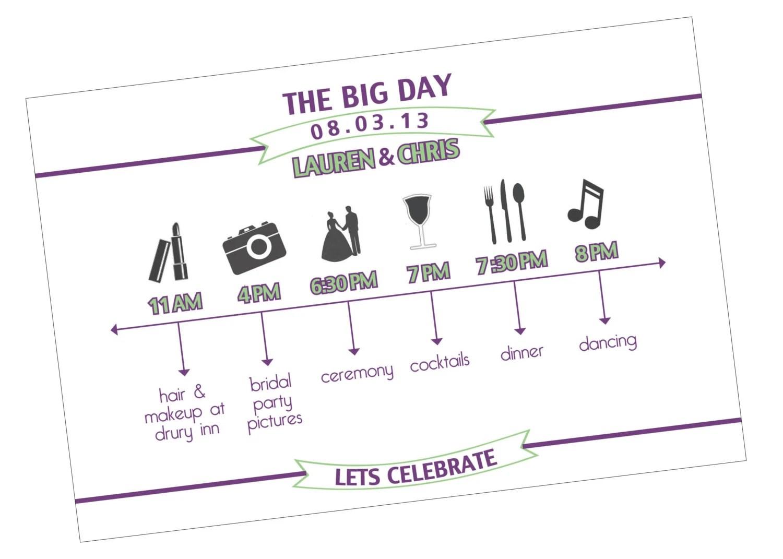 Custom Wedding Day Timeline By Ferriswheelevents On Etsy