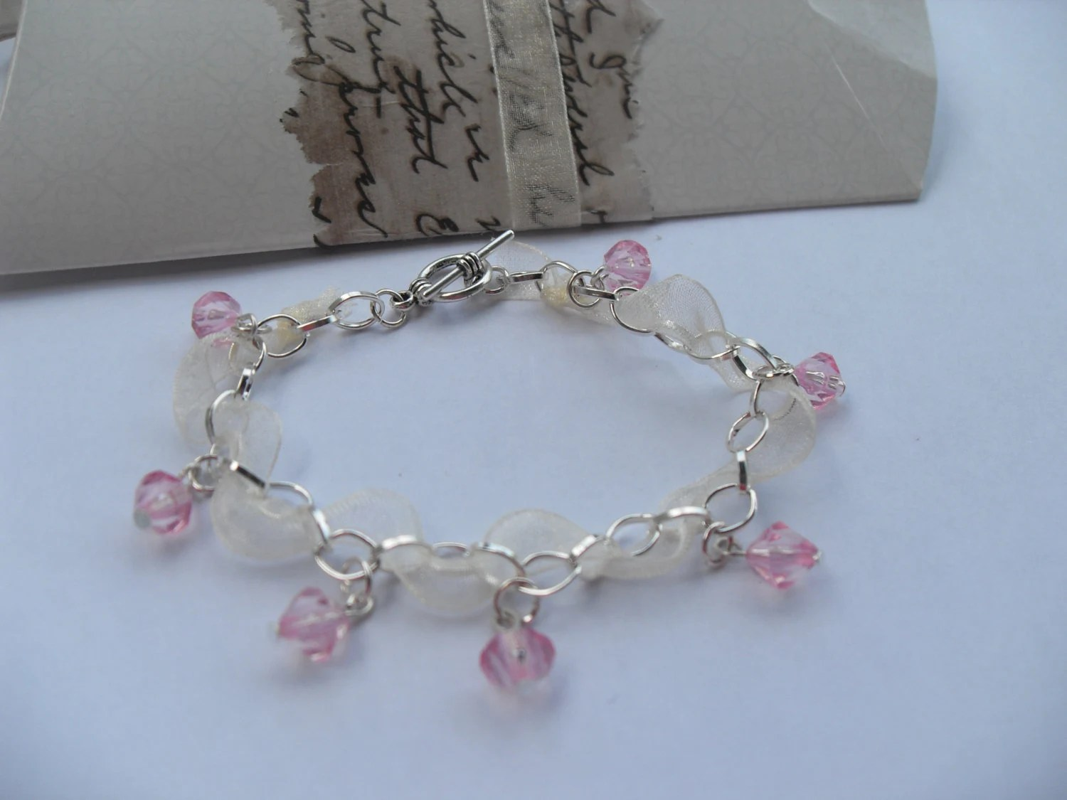 Ribbon Bracelet/silver plated