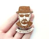 Breaking Bad Brooch - 'Heisenberg' - kateslittlestore